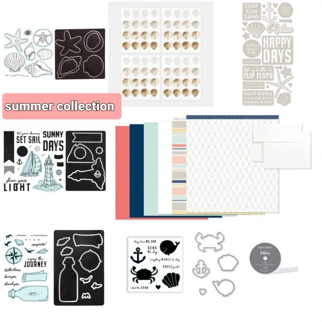 Summer Stamp Sets and Thin Cuts Close To My Heart
