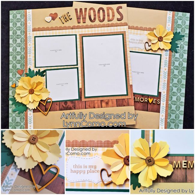 Lovely Green & Yellow Scrapbooking
