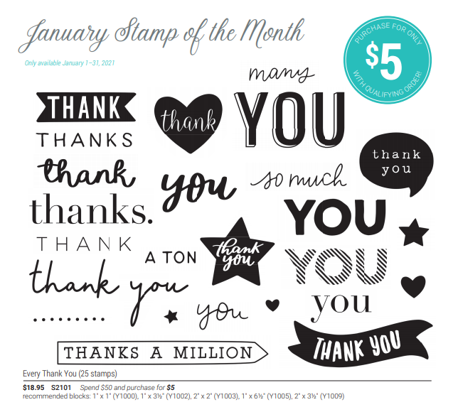s2101 every thank you stamp of the month