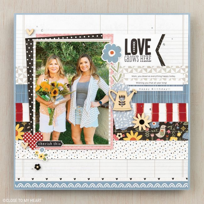 Stars and Sparklers scrapbook