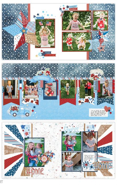 Stars and Sparklers Scrapbook Kit